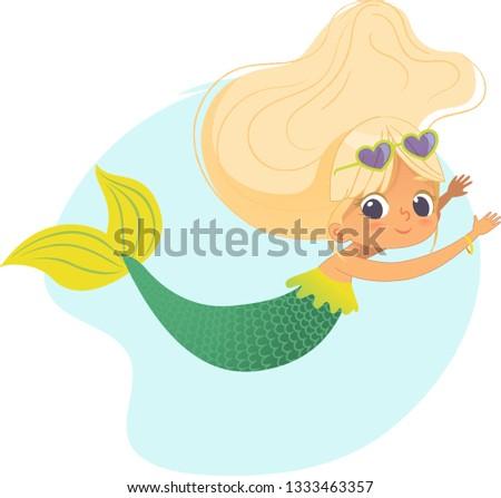 mermaid beautiful girl sea