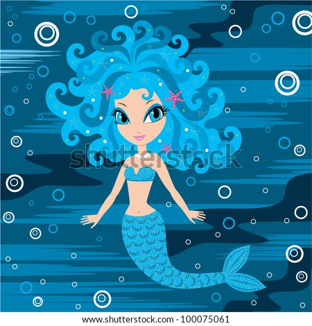 Mermaid cartoon. vector