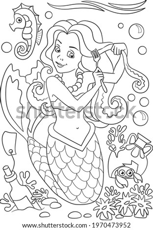mermaid coloring page coloring