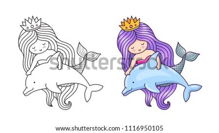 Animales lindos del Reino del Océano - Descargue Gráficos y Vectores ...