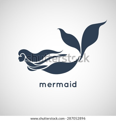 mermaid logo vector