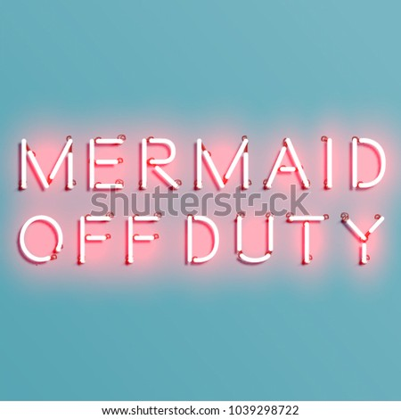 mermaid off duty quote with