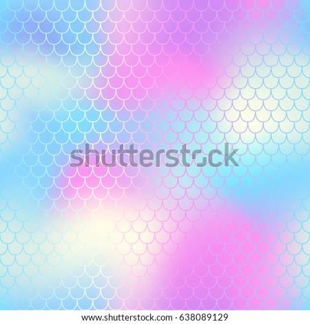 mermaid seamless pattern vector
