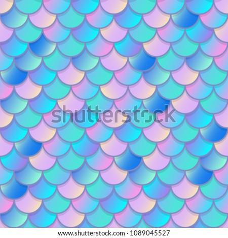 Mermaid tale - vector seamless pattern