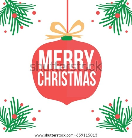 stock-vector-merry-chirstmas-design-vector-with-lamp-ball-decoration