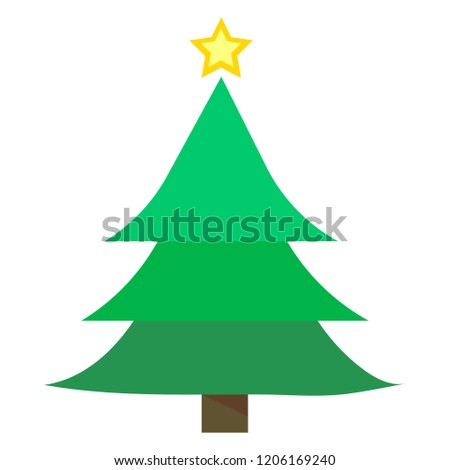 Merry Chrismas tree icon set on white background vector illustration flat desing #1206169240