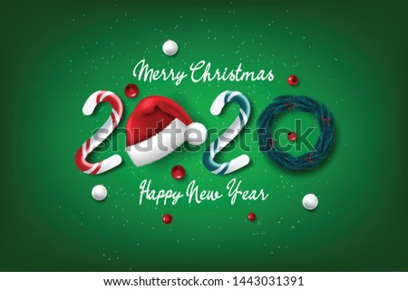 Merry Christmas and happy new year. Beautiful background with Christmas decoration