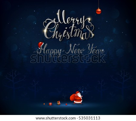 Free Vector Christmas Greeting Card - Download Free Vector Art ...