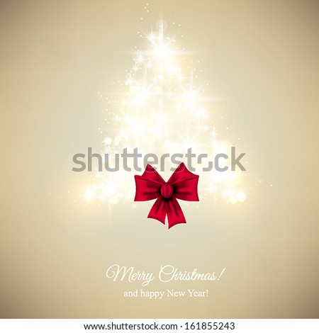 Merry Christmas and Happy New Year Card. Elegant Christmas background with snowflakes and place for text. Vector Illustration.