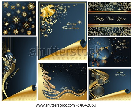 Merry Christmas and Happy New Year collection