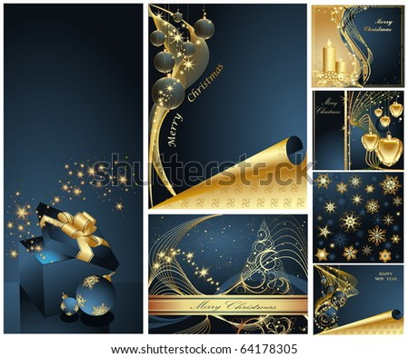 Merry Christmas and Happy New Year collection - Shutterstock ID 64178305