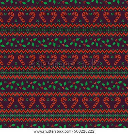 Merry Christmas And Happy New Year Elegant Seamless Background With
