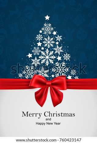 merry christmas and happy new year, greeting