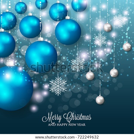 merry christmas and happy new year greeting card or party invitation template for winter holiday with