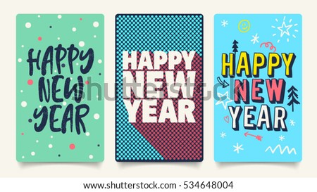 merry christmas and happy new year mobile banners and vector illustration modern holiday postcard with