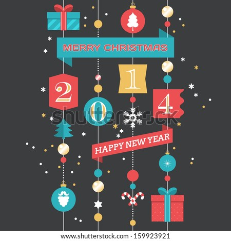 Merry Christmas And Happy New Year 2014 Clipart Merry christmas and