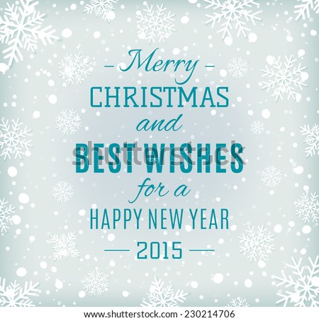 Best wishes greeting card download free vector art stock graphics merry christmas and happy new year text label on a winter background with snow and snowflakes best wishes typography background vector m4hsunfo