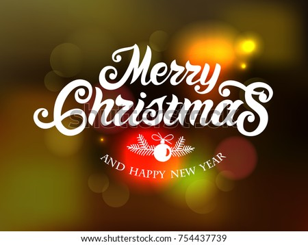 merry christmas and happy new year typography vector design for greeting cards and poster merry