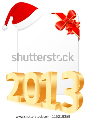 Merry Christmas and happy new year 2013 - vector illustration