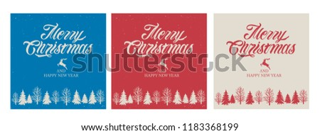 Merry Christmas and Happy New Year  vector text Calligraphic Lettering design card template. Merry Christmas vector design for greeting cards and poster on a textural background.
