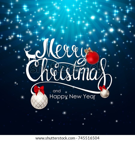 Merry Christmas and New Year Background. Vector Illustration EPS10 - Shutterstock ID 745516504