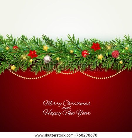 Merry Christmas and New Year Background. Vector Illustration EPS10 #768298678