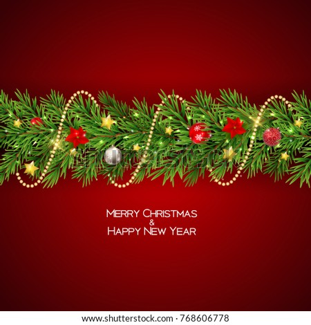 Merry Christmas and New Year Background. Vector Illustration EPS10 #768606778