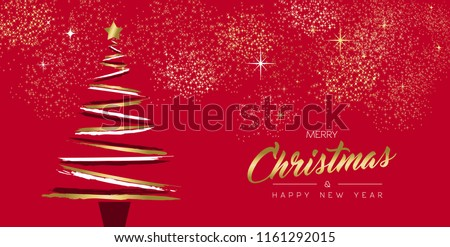 stock-vector-merry-christmas-and-new-year-luxury-greeting-card-design-with-gold-color-xmas-pine-tree-made-of