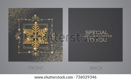Business card with snowflakes download free vector art stock merry christmas and new year offer cards template business cards vip greetings flashek Choice Image