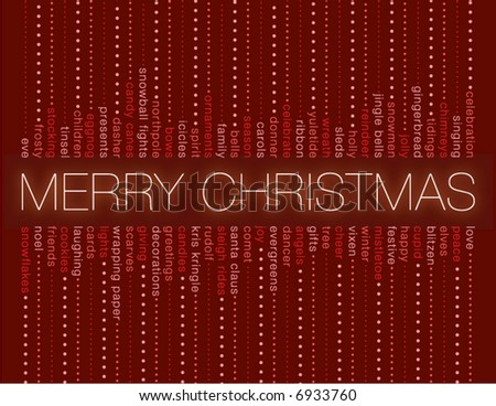 merry christmas and other holiday words