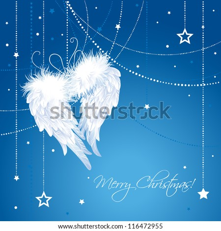 merry christmas angel wings