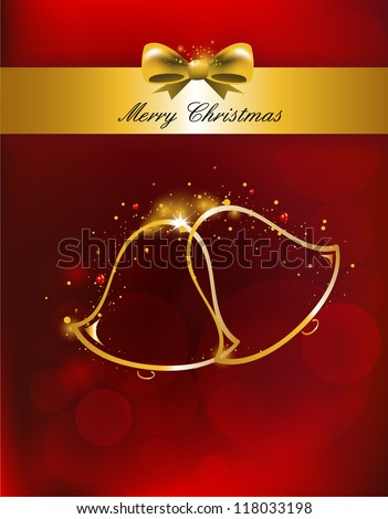 Merry Christmas Background for Greetings Card, vector illustration