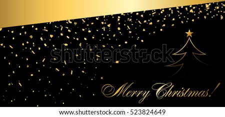 gold abstract tree confetti for card greeting xmas celebrate vector holiday fireworks background happy new year 2016