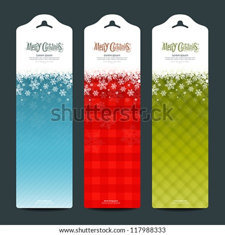 Merry Christmas background Vertical banner modern design, vector illustration