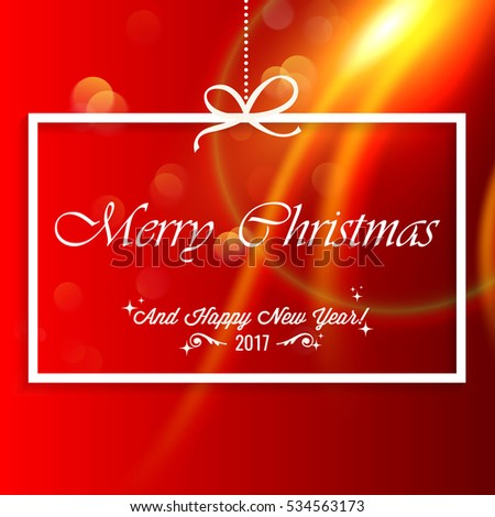 Merry Christmas background with happy new year greetings #534563173