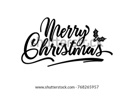 merry christmas badge with handwritten lettering calligraphy with light background for logo banners - Merry Christmas Logos