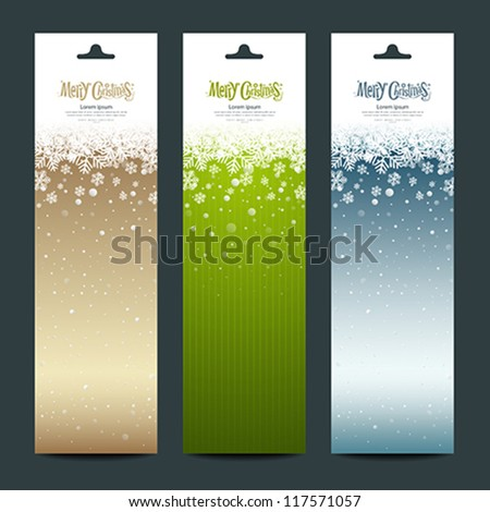 Merry Christmas banner vertical background, vector illustration