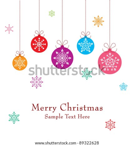 merry christmas bell greeting card