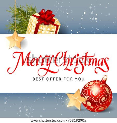 Merry Christmas Best Offer Lettering #758192905