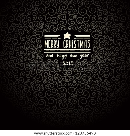 merry christmas black Greeting Card