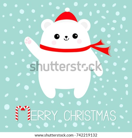 merry christmas candy cane text
