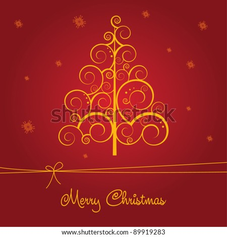 Merry Christmas card - stock vector