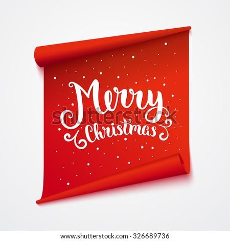 merry christmas card isolated