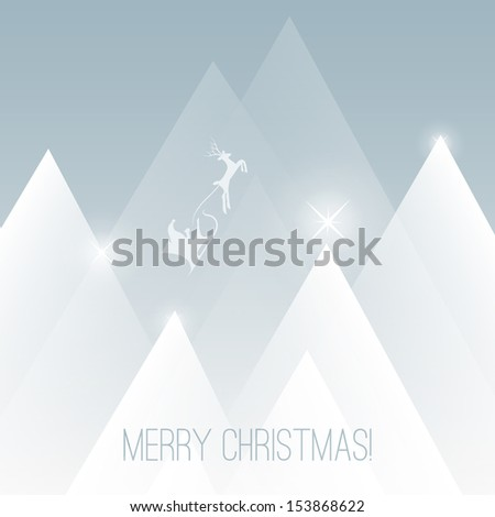 Merry Christmas Card | Vector Background Illustration