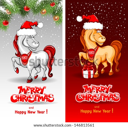 merry christmas card with funny