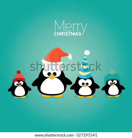 merry christmas card with