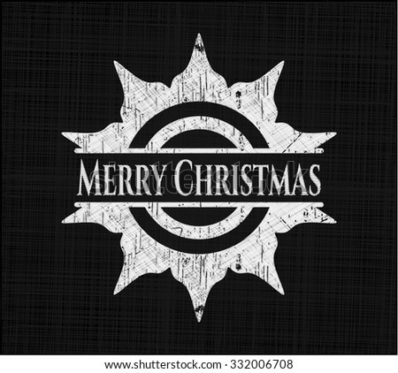 Merry Christmas chalk emblem