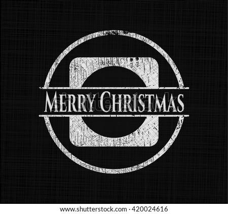 Merry Christmas chalkboard emblem