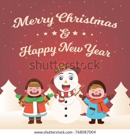Merry Christmas! Christmas company, Kids and Santa Claus.