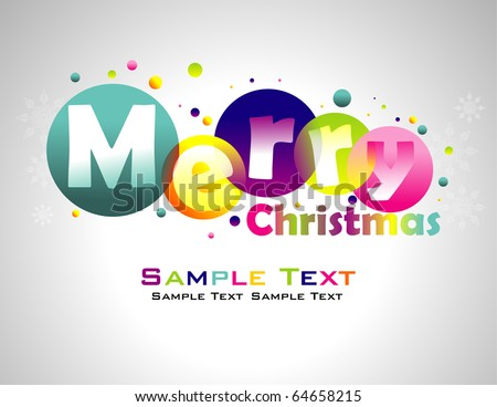 Merry Christmas colorful background.